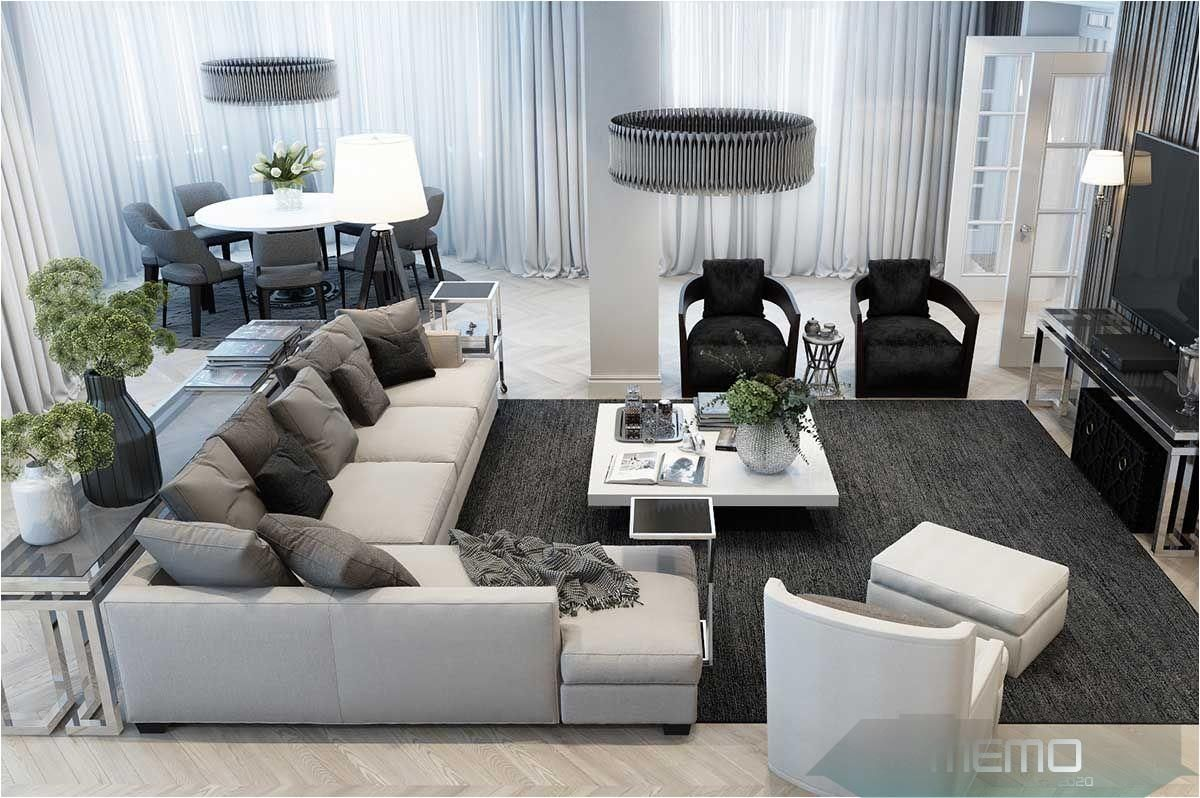 Aug 20, 20   Beautiful monochromatic grey modern style living ...