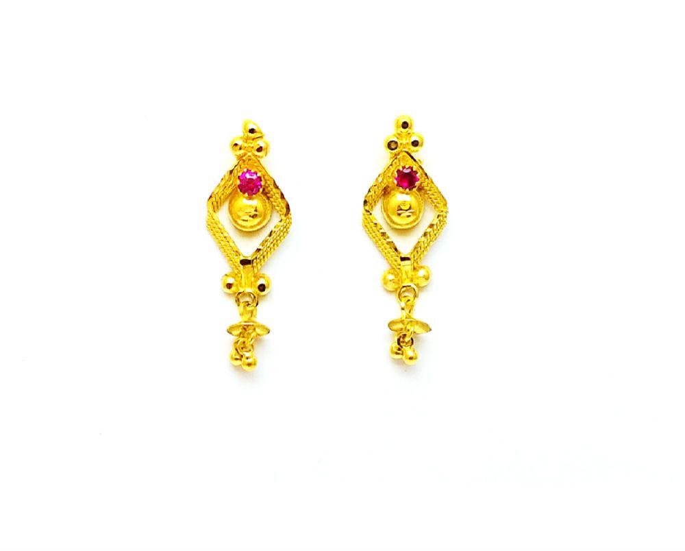 Brand New 22k 22ct 916 BIS Hallmark Precious Gold Earring Drops Handmade Design