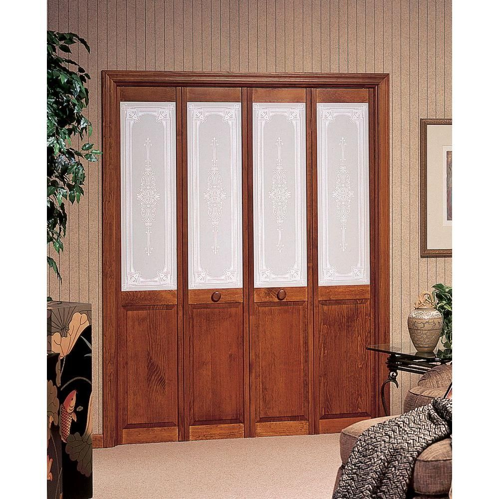 pinecroft 30 in x 80 in baroque decorative glass Pinecroft 30 In X 80 In Unfinshed Pine Wood 2 Panel Square id=47864