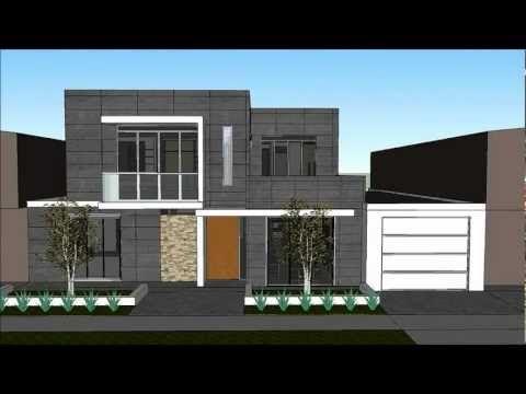 Planos de casas de dos pisos con fachadas modernas - Casas con chimeneas modernas ...