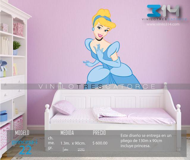 Vinilo 3 14 vinilos decorativos infantiles princesas for Calcomanias para dormitorios
