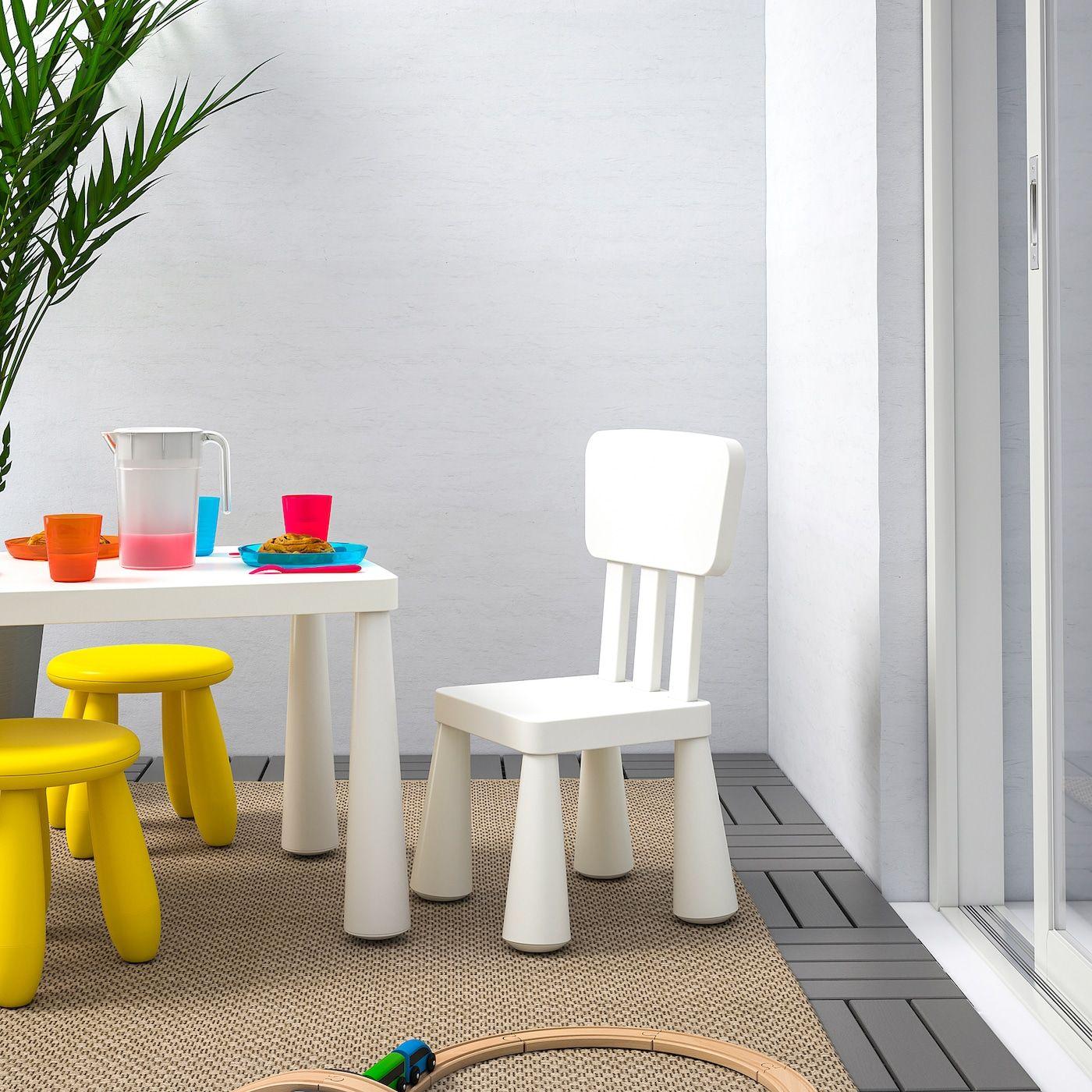 MAMMUT Children's chair indoor/outdoor, white 2020