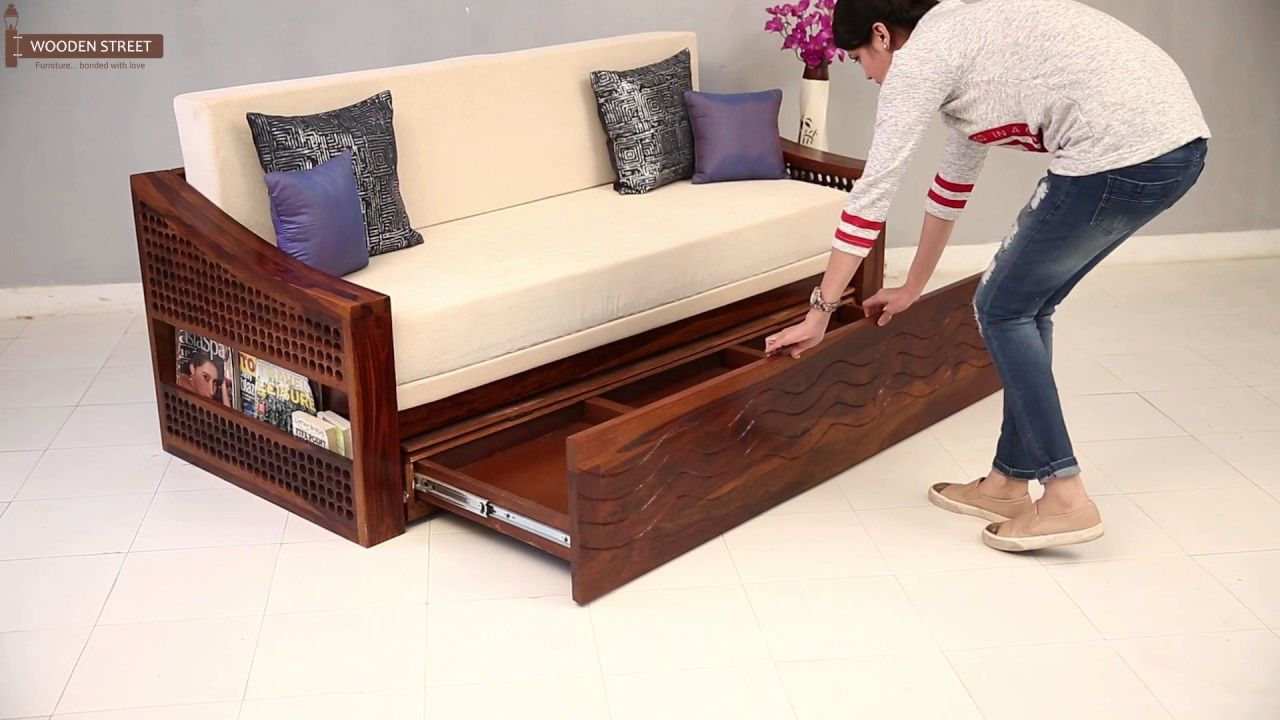 116 Reference Of Wooden Sofa Couch Bed In 2020 Sofa Bed Wood Wooden Sofa Murphy Bed Sofa