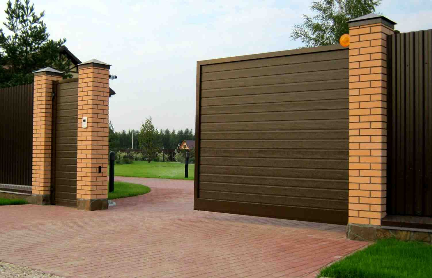 Откатные ворота самостоятельно | Экстерьер покраски дома ...
