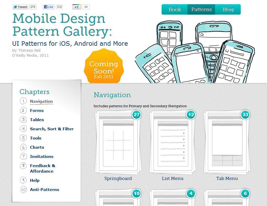 Mobile Design Pattern Gallery Mobile Design Patterns Mobile Design Web Design
