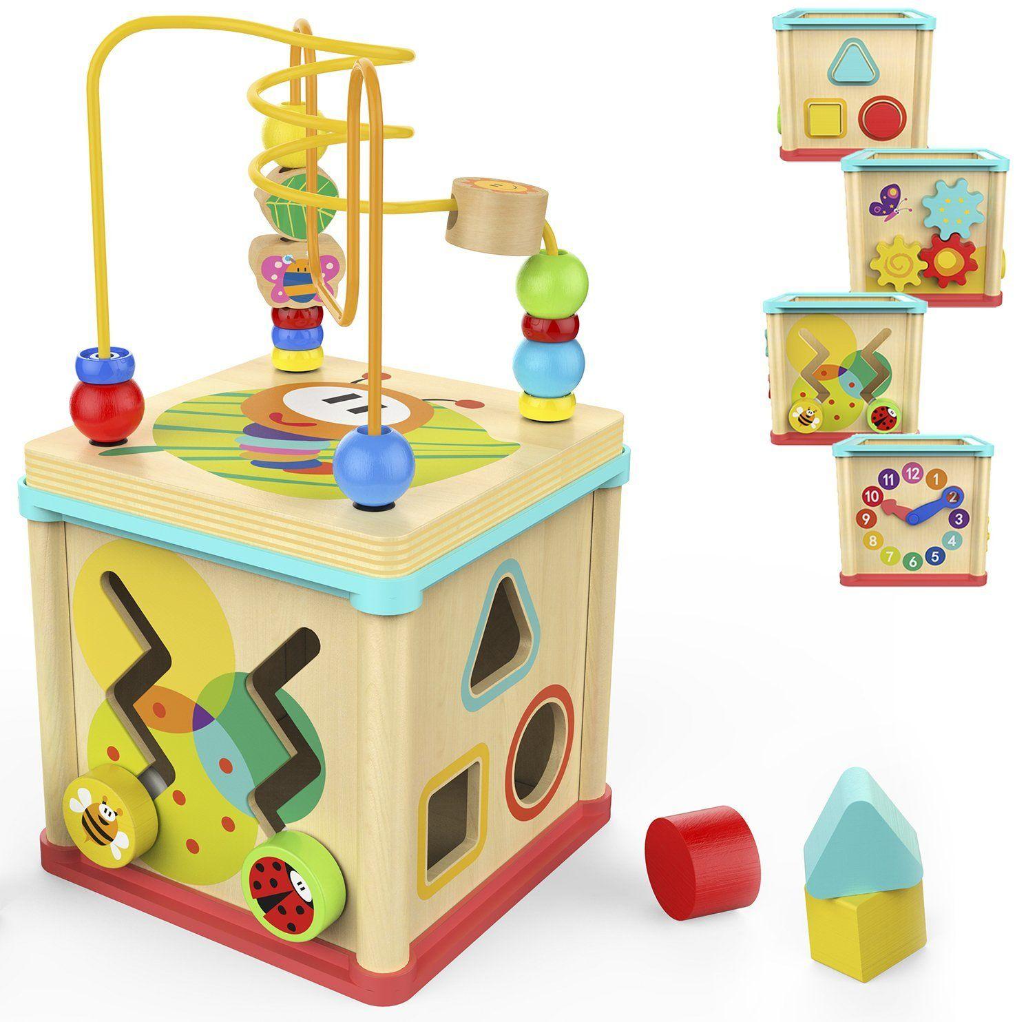 Amazon.com: TOP BRIGHT Activity Cube Toys Baby Educational ...