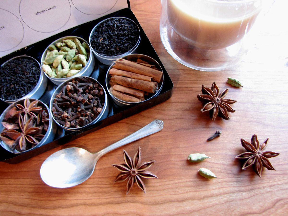 Organic DIY chai tea kit  with recipe - set of 6 - a great gift for your favorite tea lover.. $ 18.00, via Etsy.