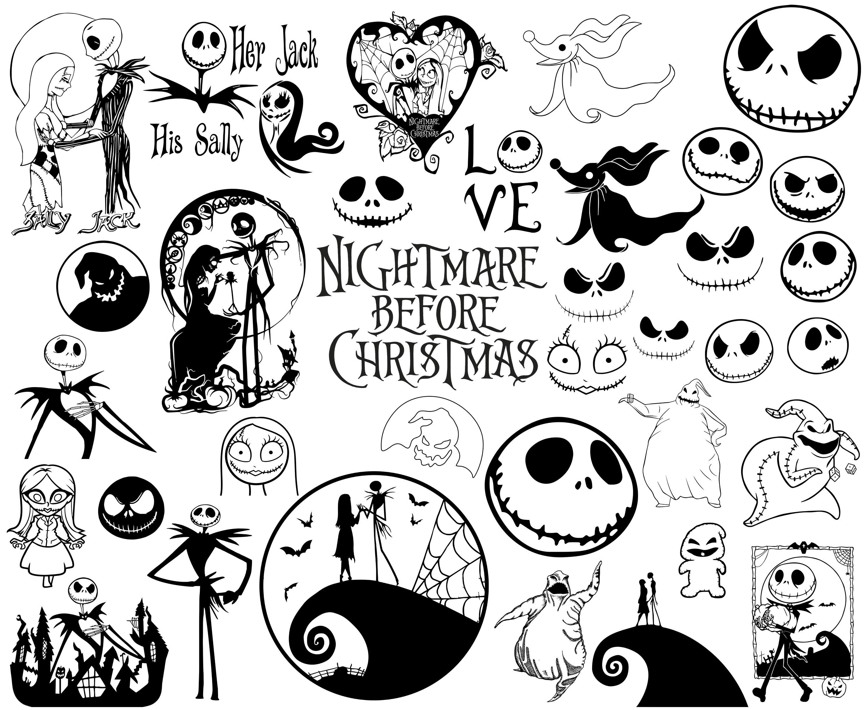 Nightmare Before Christmas Svg Nightmare Svg Christmas Svg