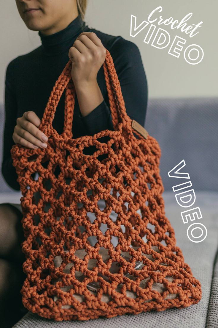 How to crochet a tote bag VIDEO