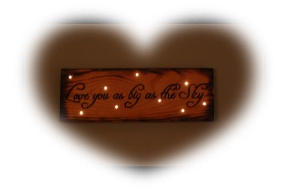 Love you as big as the sky by WoodburnedDoodles on Etsy, $55.00
