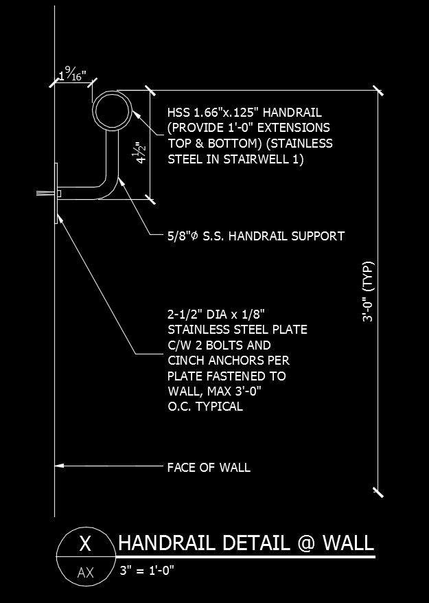 Free CAD Details-Balustrade-Handrail Detail&Wall – CAD