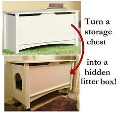 Turn A Toy Chest Into A Hideaway Litter Box Hidden Litter Boxes
