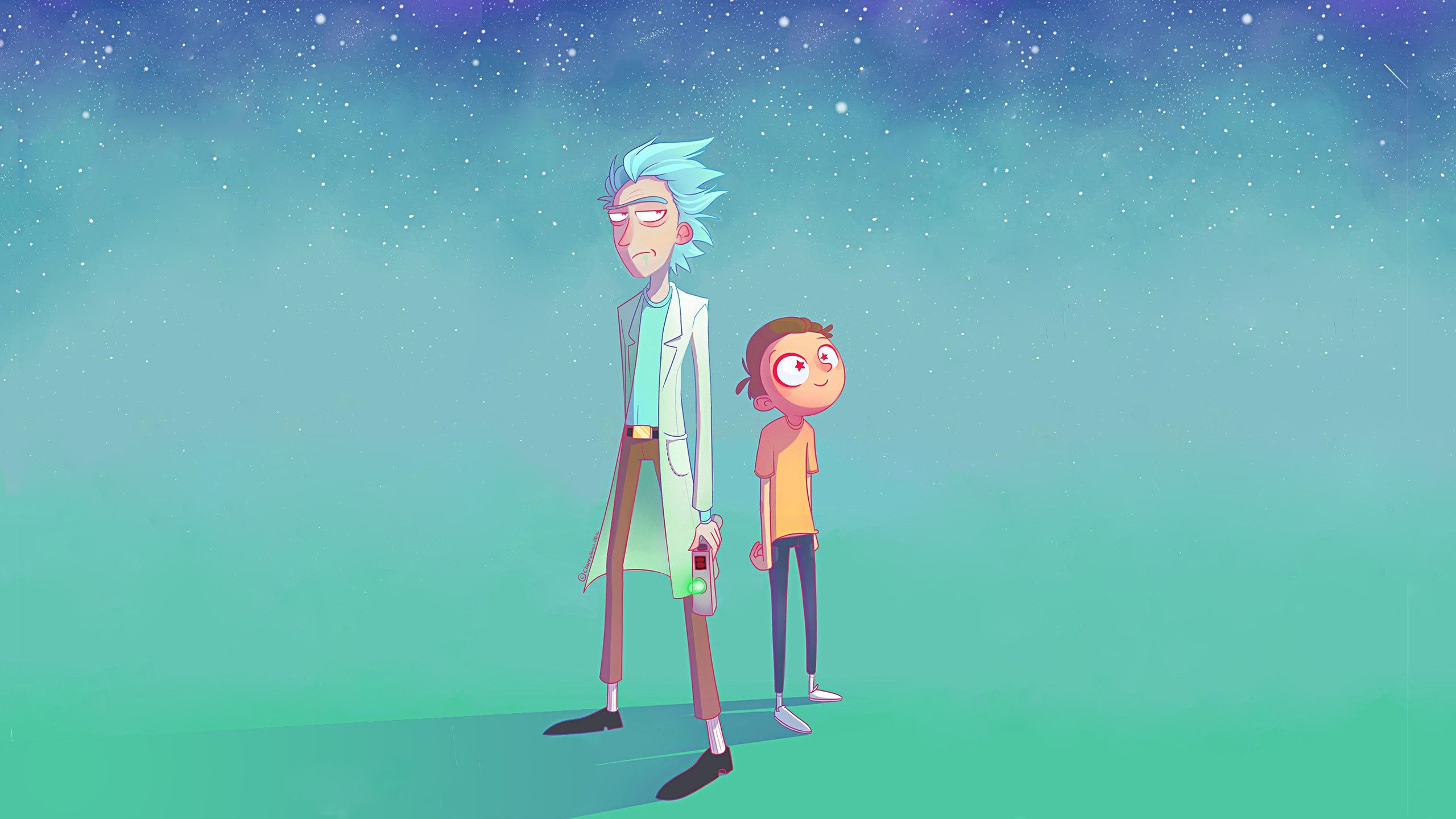 Rick And Morty By Choppywings 2560x1440 Wallpaper Cartoon