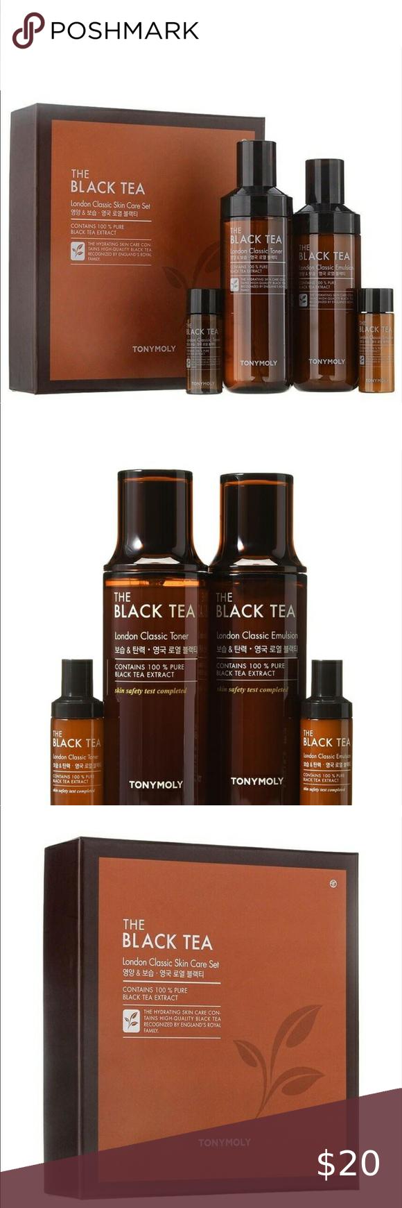 New Tony Moly Black Tea Skin Care Set in 2020 Skincare