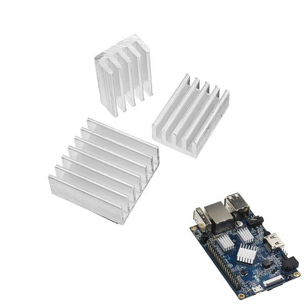 3pcs Adhesive Aluminum Heat Sink Cooling Kit For Orange Pi Pc
