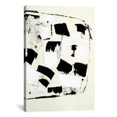 Found it at Wayfair - Flag of by Heather Chontos Painting Print on Wrapped Canvas in Black and White