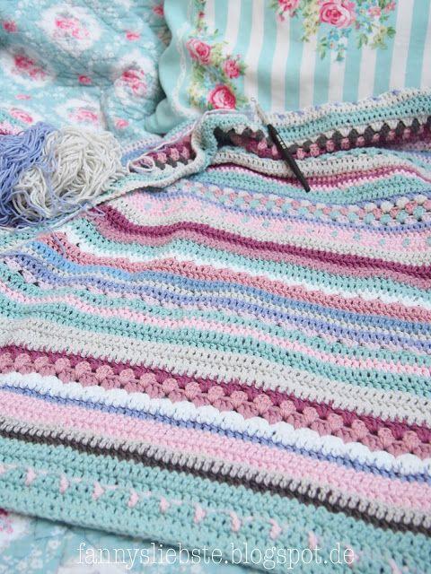 Greengate Cal 2009 Häkeldecke Battaniye Blankets Decken
