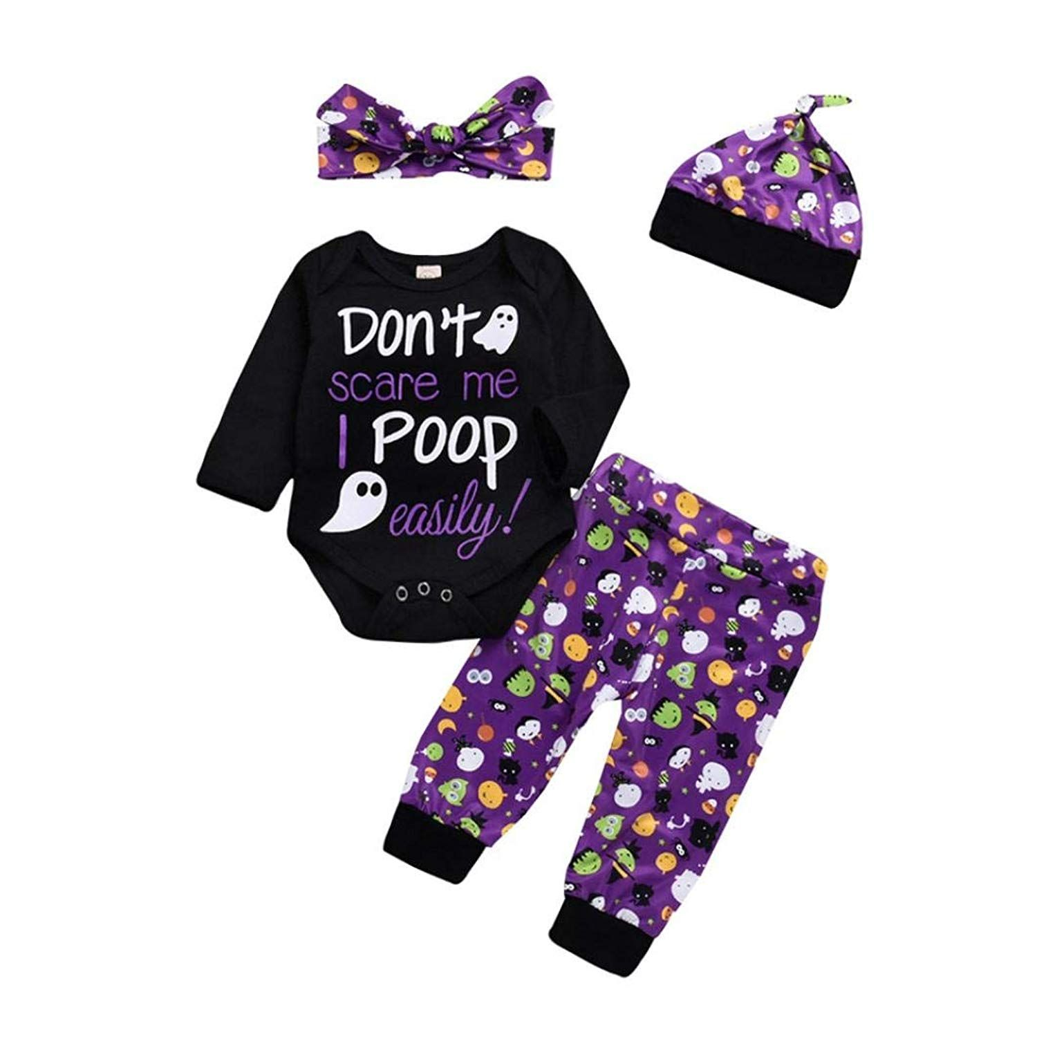 76ba7f1a8b975 Halloween Face Make-up - Clearance Sale! VEKDONE Toddler Infant Baby Girls  Boys Letter Romper Pants Halloween Costume Outfits Set  #scaryhalloweenmakeupideas