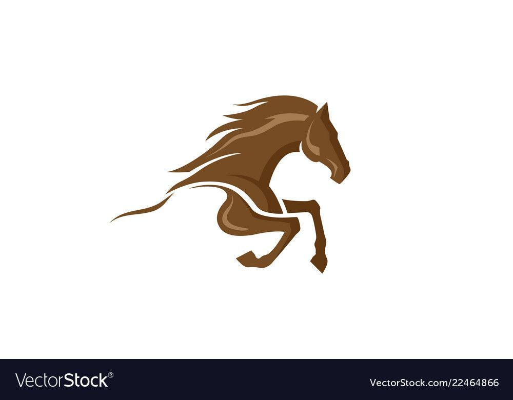 Creative Abstract Brown Horse Logo Vector Image On Horse Logo Design Horse Logo Geometric Art Animal In 2021 Horse Logo Horse Logo Design Horse Illustration