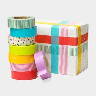Washi Paper Masking Tape... beats ribbon any day!