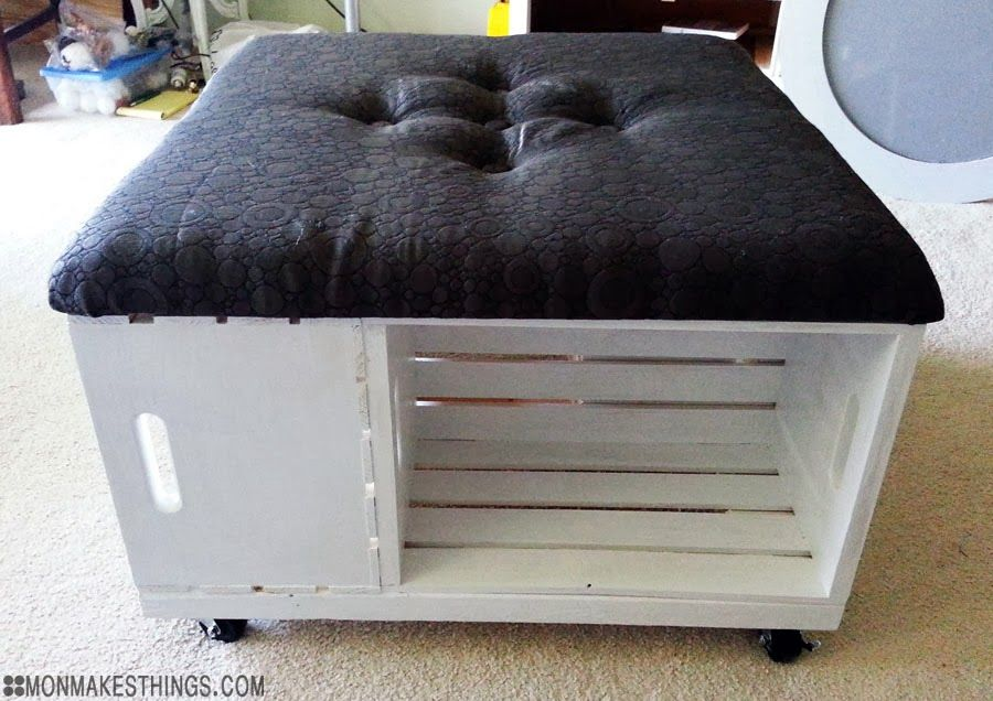 mon makes things: Storage Ottoman DIY | Be Awesome and DIY ...