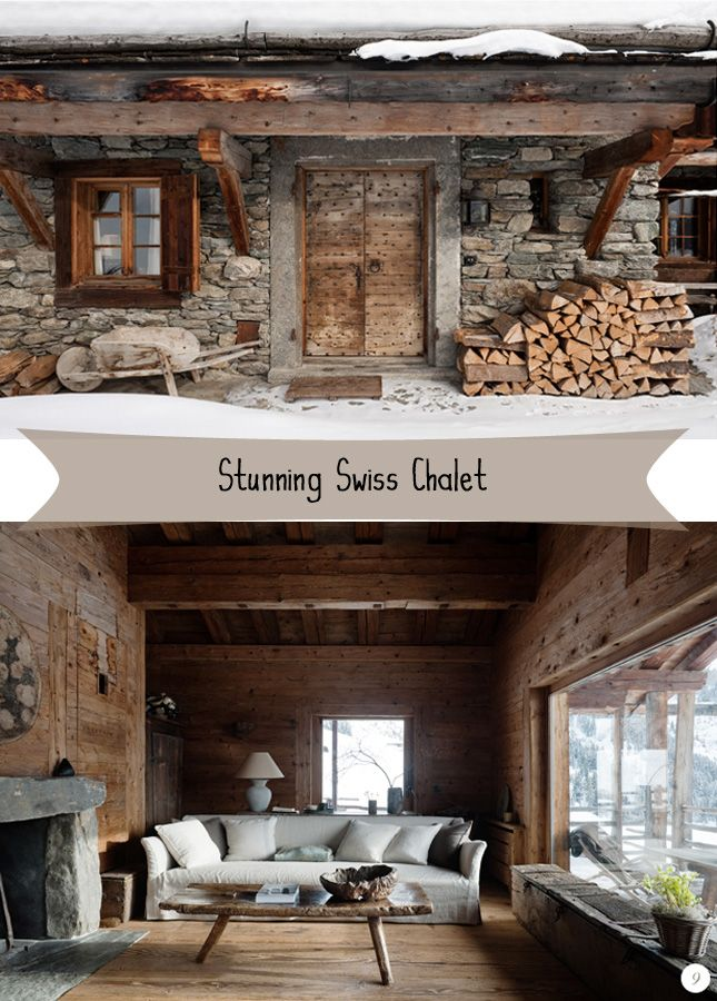 Rustentrance Tells A Story Inside White Sofa Balanced By Tactile Wood Ski Chalet Decorchalet