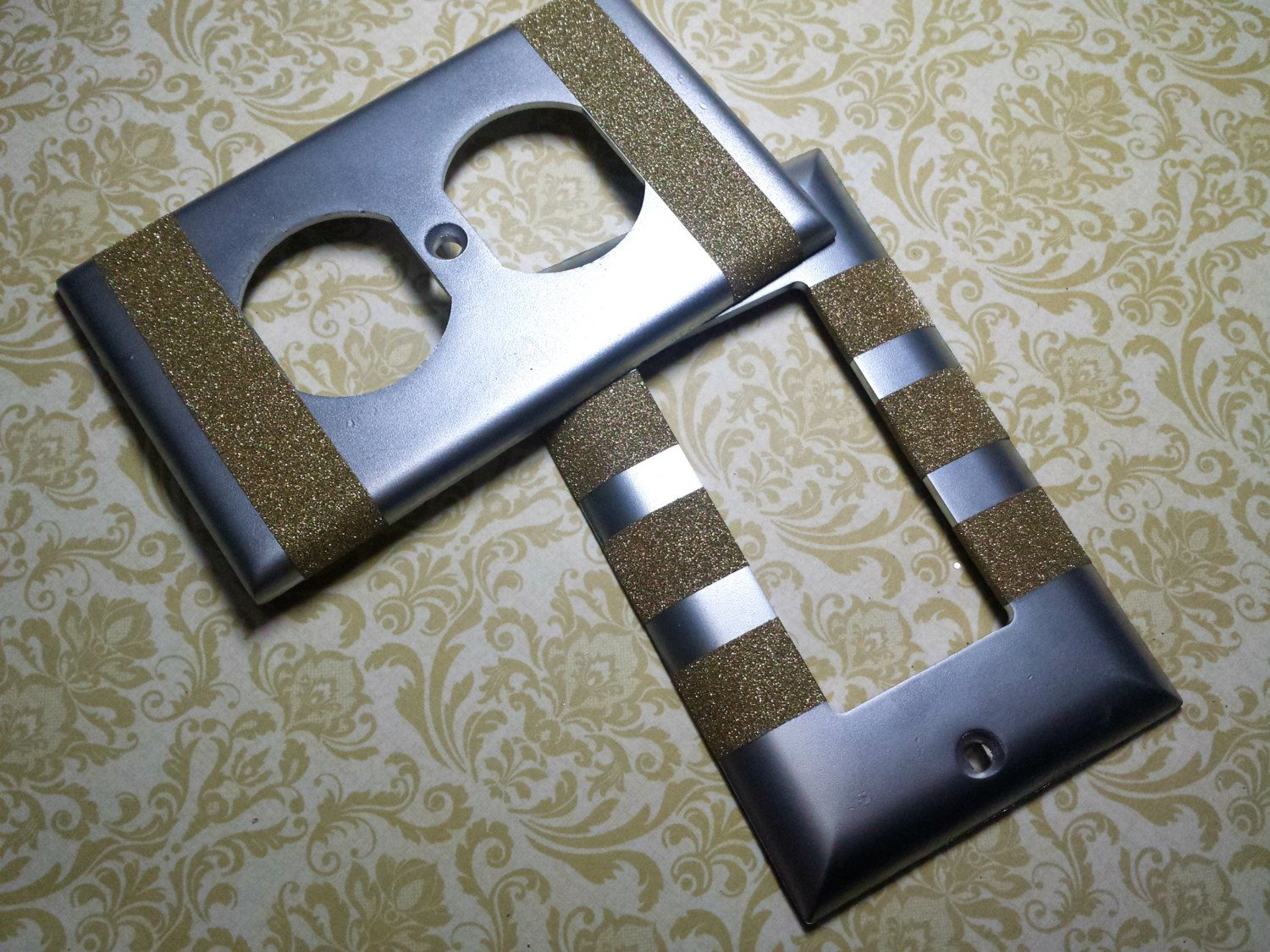 Decorative Light Switch Plates Decorative Bling Light Switch Plates Outlet Covers Silver