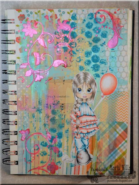 Pez-A-Doodle Designs - Mixed media journaling with ColourArte