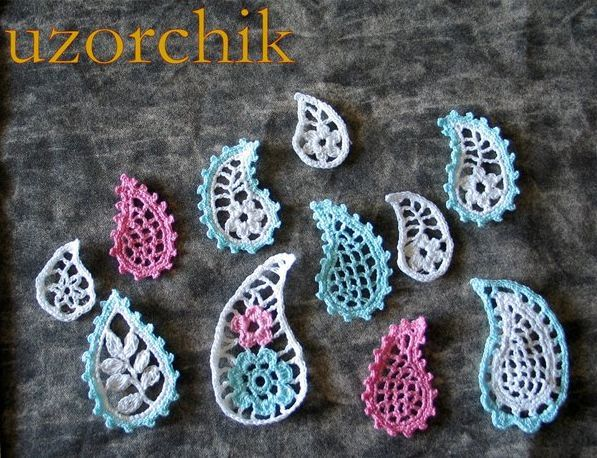 Different Shapes And Fillings Paisley Crochet Pinterest