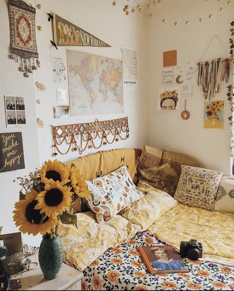 Bedroom Room Yellow Sunshine Aesthetic Cute Goals Flower