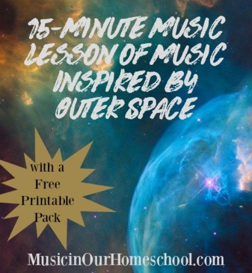 Image result for 15-Minute Music Lesson of Music Inspired by Outer Space music in our homeschool