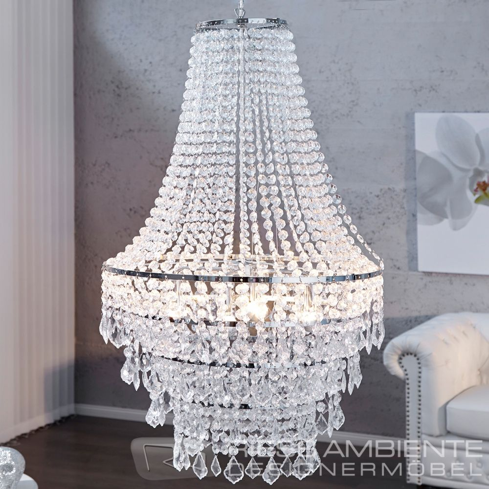 gro e xl design h ngelampe royal kristall strass kronleuchter lampe h ngeleuchte ebay. Black Bedroom Furniture Sets. Home Design Ideas
