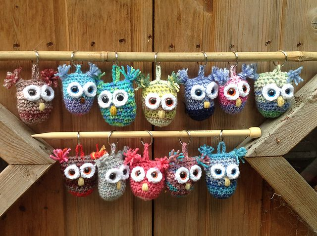 Ravelry Project Gallery for Owl Christmas Ornaments pattern by