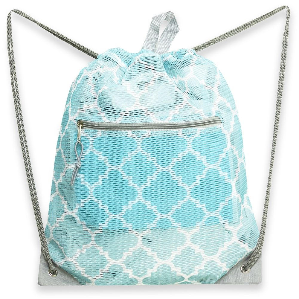 0931bae9266d Wholesale 19 Inch Mesh Drawstring Bag - Geo Print