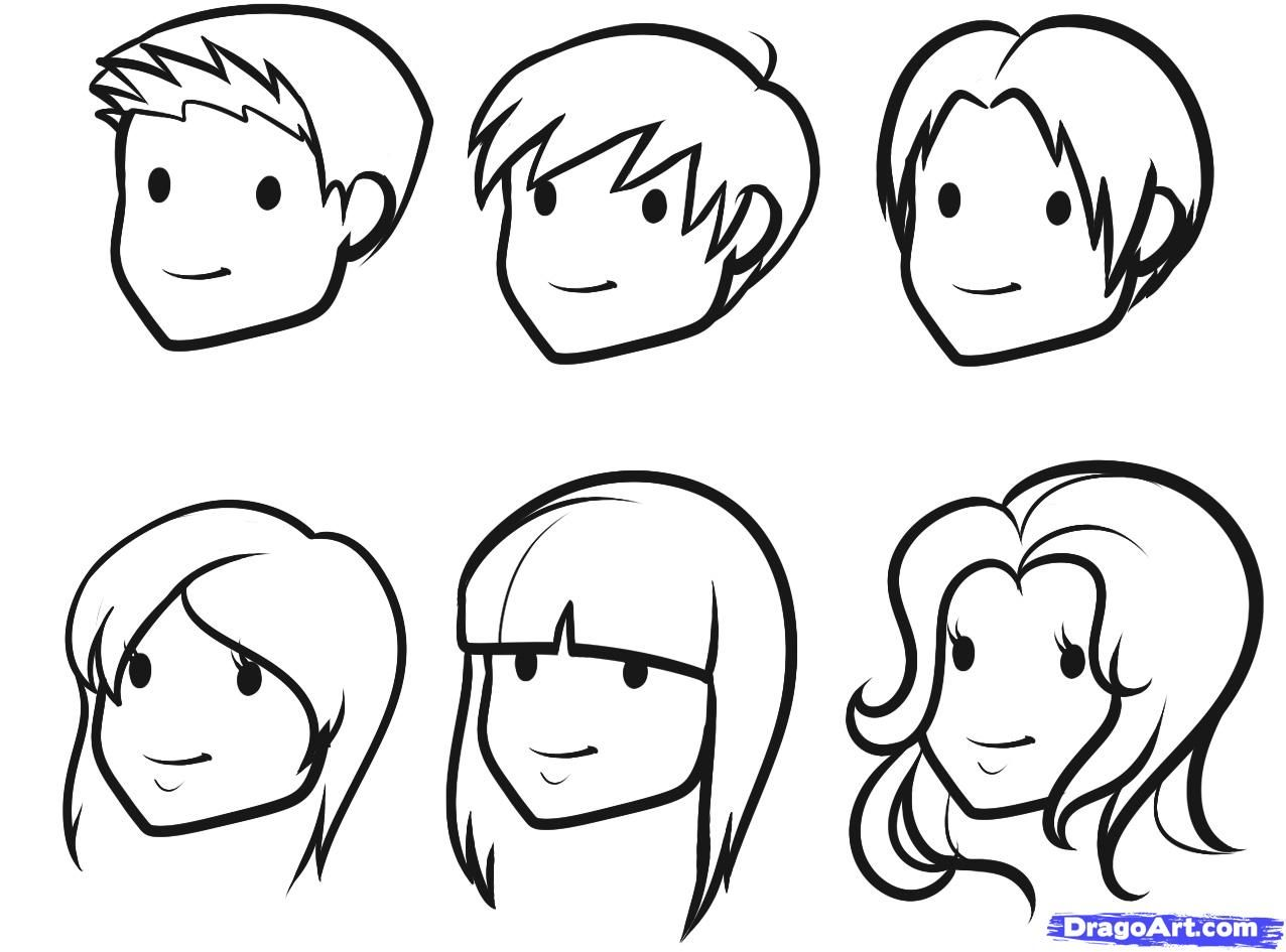 How To Draw Hair For Kids Step 8 1 000000087973 5 Jpg 1276 945 Cartoon Drawings Of People Cartoon People Cartoon Faces