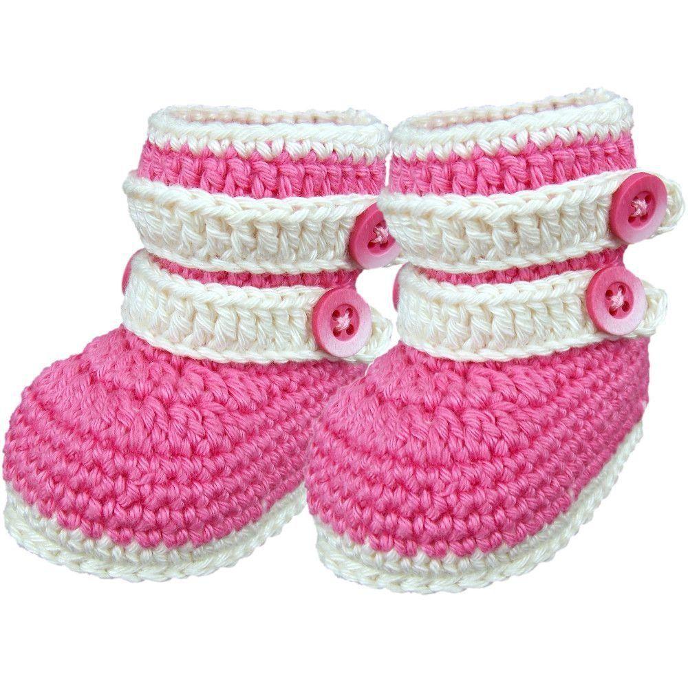 Botinha de Crochê para Bebê Recém-Nascido Modelo Fofura (RN) | Bebês ...
