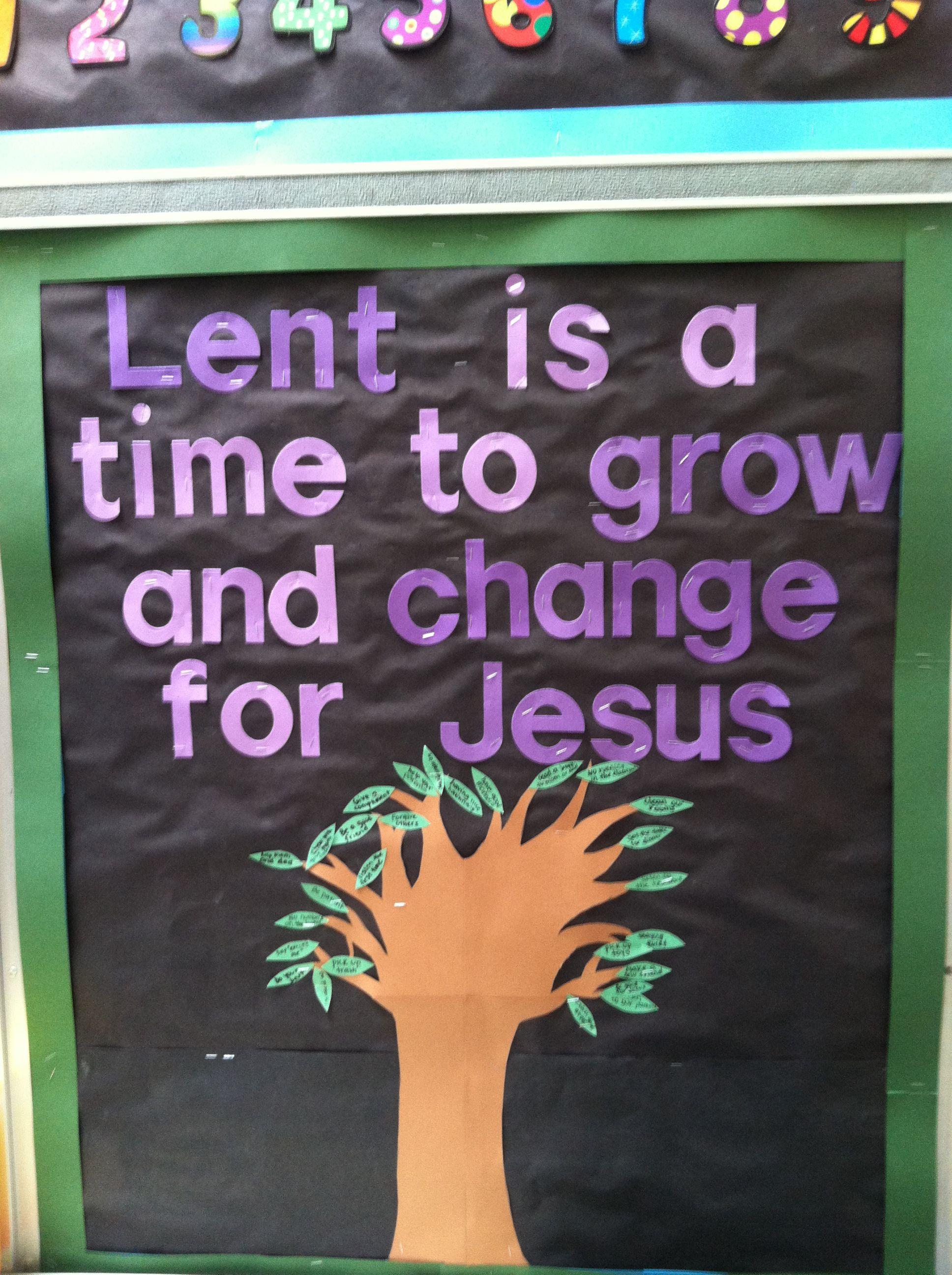 Catholic Lenten Bulletin Board
