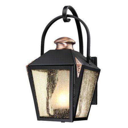 Matte black copper westinghouse lighting valley forge outdoor westinghouse lighting valley forge 1 light outdoor wall lantern walmart aloadofball Choice Image