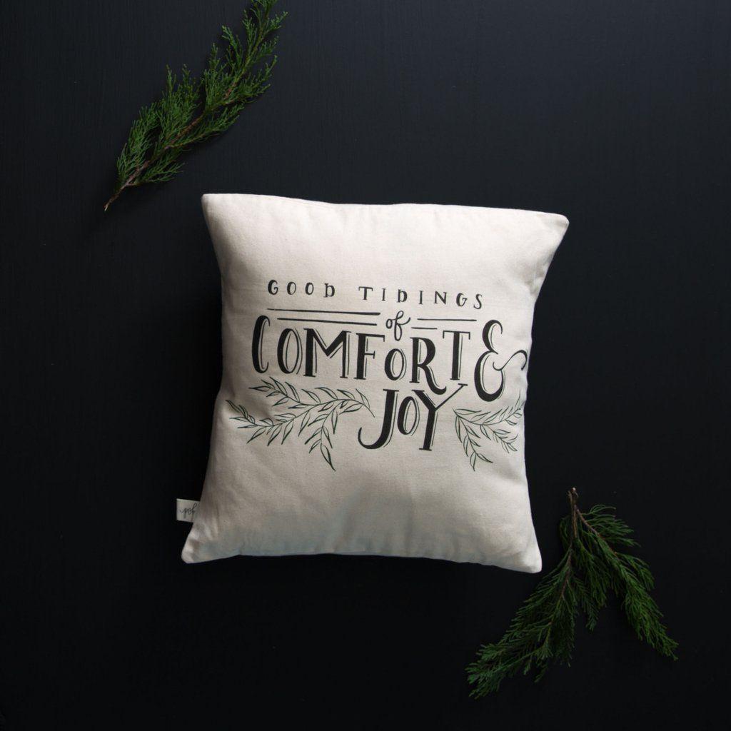 """Good Tidings"" Pillow"