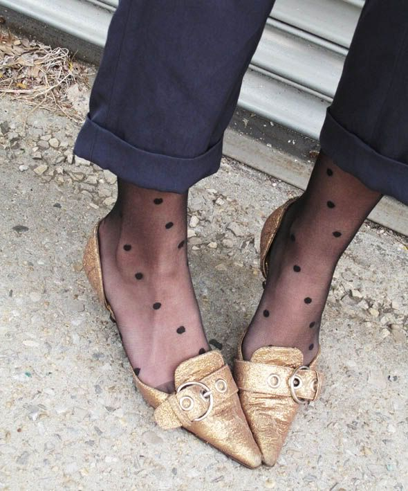 polka dot tights!!