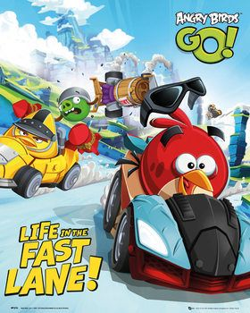 Angry Birds Go Race Posters Art Prints Gaming Posters