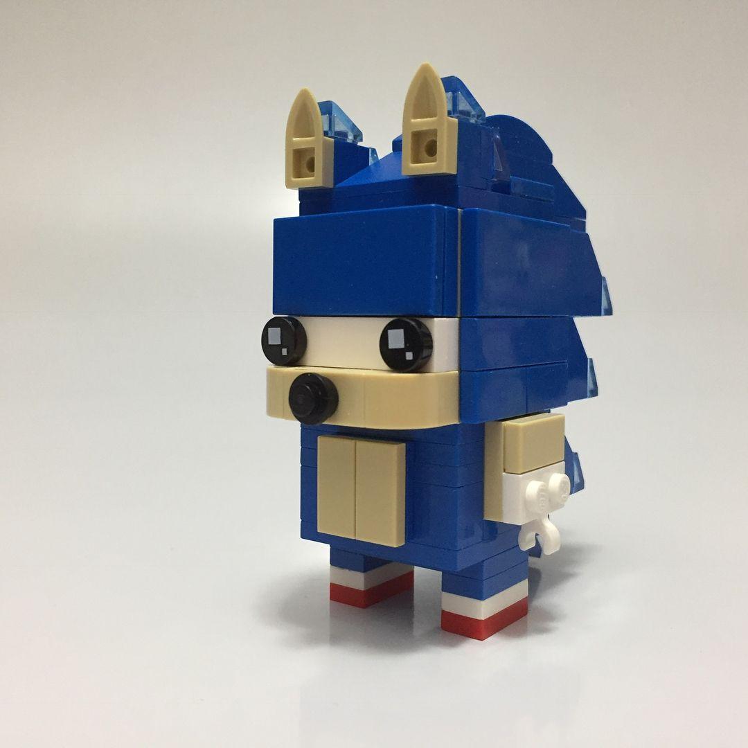 Lego Brickheadz Sonic On My Youtube Channel Legomoc Legomocs Brickheadz Brickheadzmoc Sonic Game Gamer Gamec Amazing Lego Creations Legos Lego Figures