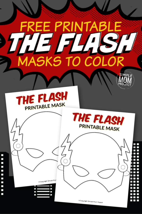 The Flash Free Printable Mask Template In 2020 Mask Template Printable Printable Masks Mask Template