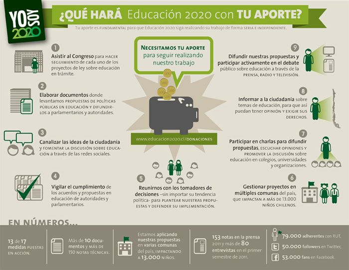 NGO Educación 2020 infographics - Dominique Tetzner