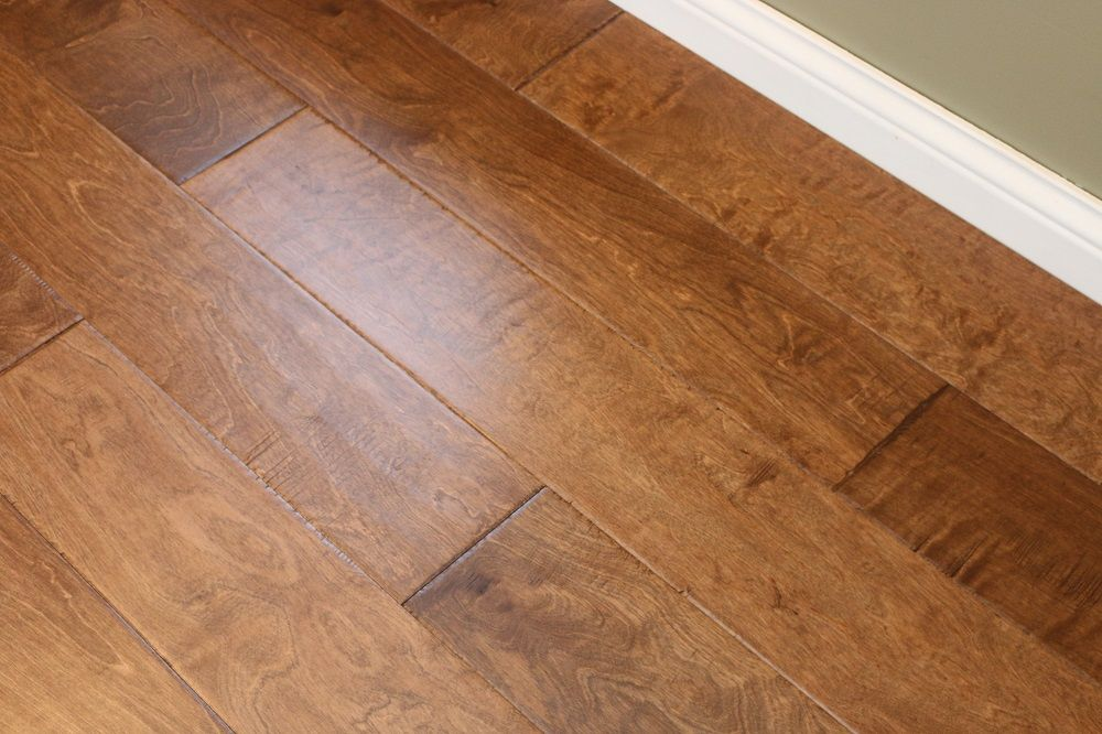 Two Tone Wood Flooring Birch Earth Tone 3 8 X 6 1 2 Hand Scraped Engineered Hardwood Flooring Weshipfloors Hardwood Floors Flooring Wood Floors