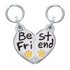 Best Friend Word Dog Charm