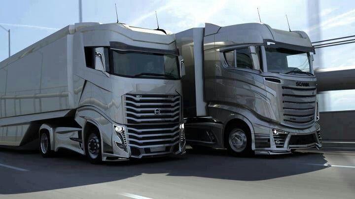 volvo vs scania | trucks & trailers. | pinterest