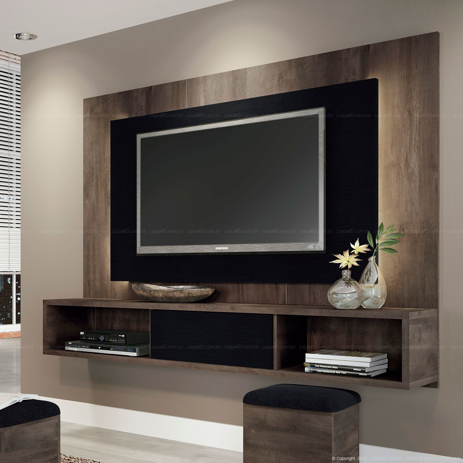 rack suspenso sala pinterest tv panel tvs and cord. Black Bedroom Furniture Sets. Home Design Ideas