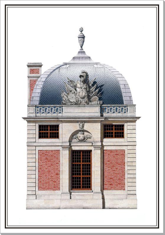 Guard Pavilion at Versailles | Versailles, Pavilion and Watercolor