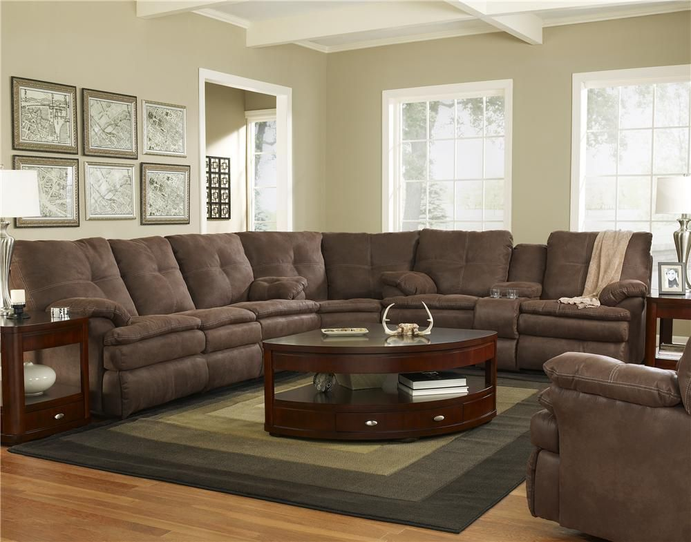 910m Sectional Sofa By Corinthian Brown Sectional Sofa Brown Couch Living Room Brown Leather Sofa Living Room